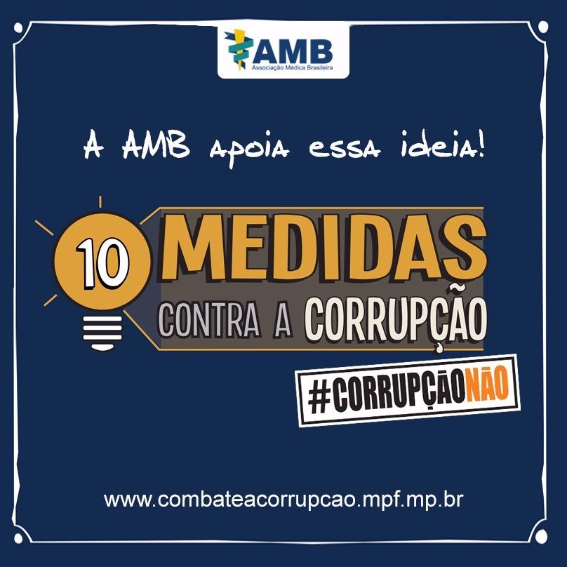 AMB apoia medicas contra corrupção